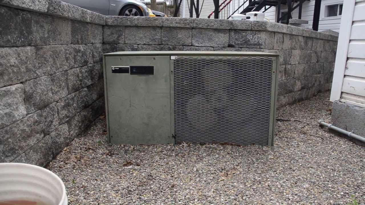 Old Whirlpool Central Air Conditioner At A Commercial