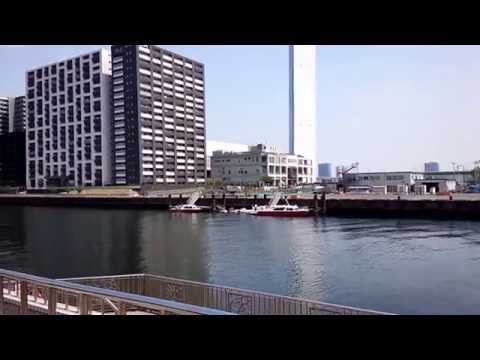 豊海運動公園から眺める運河 2014年4月19日