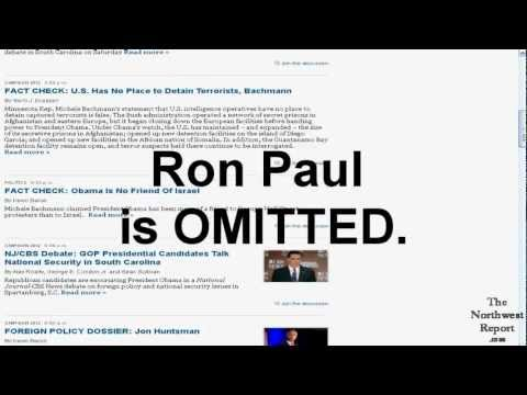 Ron Paul EXCLUDED By National Journal In Their CBS Debate Article