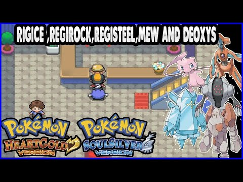 Pokemon HeartGold And SoulSilver - Getting Regi Trio, Mew And Deoxys From Migrated Pokemon Emerald