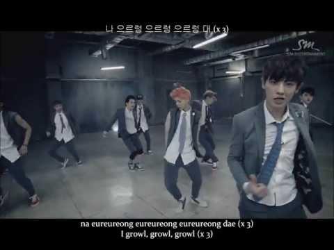 Growl by Exo [Romanization, Hangul, English Subs]