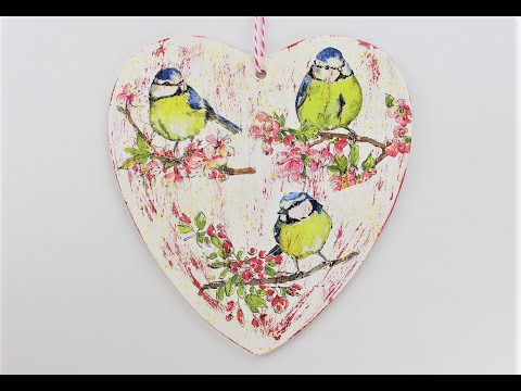 decoupage-wooden-heart-plaque---decoupage-heart---room-decor-diy---decoupage-tutorial