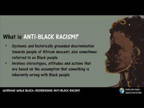 Working While Black Webinar #1: Anti-Black Racism and Labour