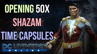 DCUO   Opening 50x Shazam Time Capsules