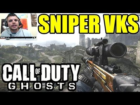 COD GHOSTS : Sniper VKS Gameplay | SkyRRoZ