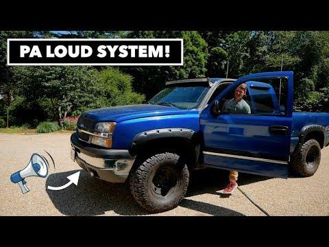 Custom PA Loud System // Chevy Silverado 1500 - YouTube