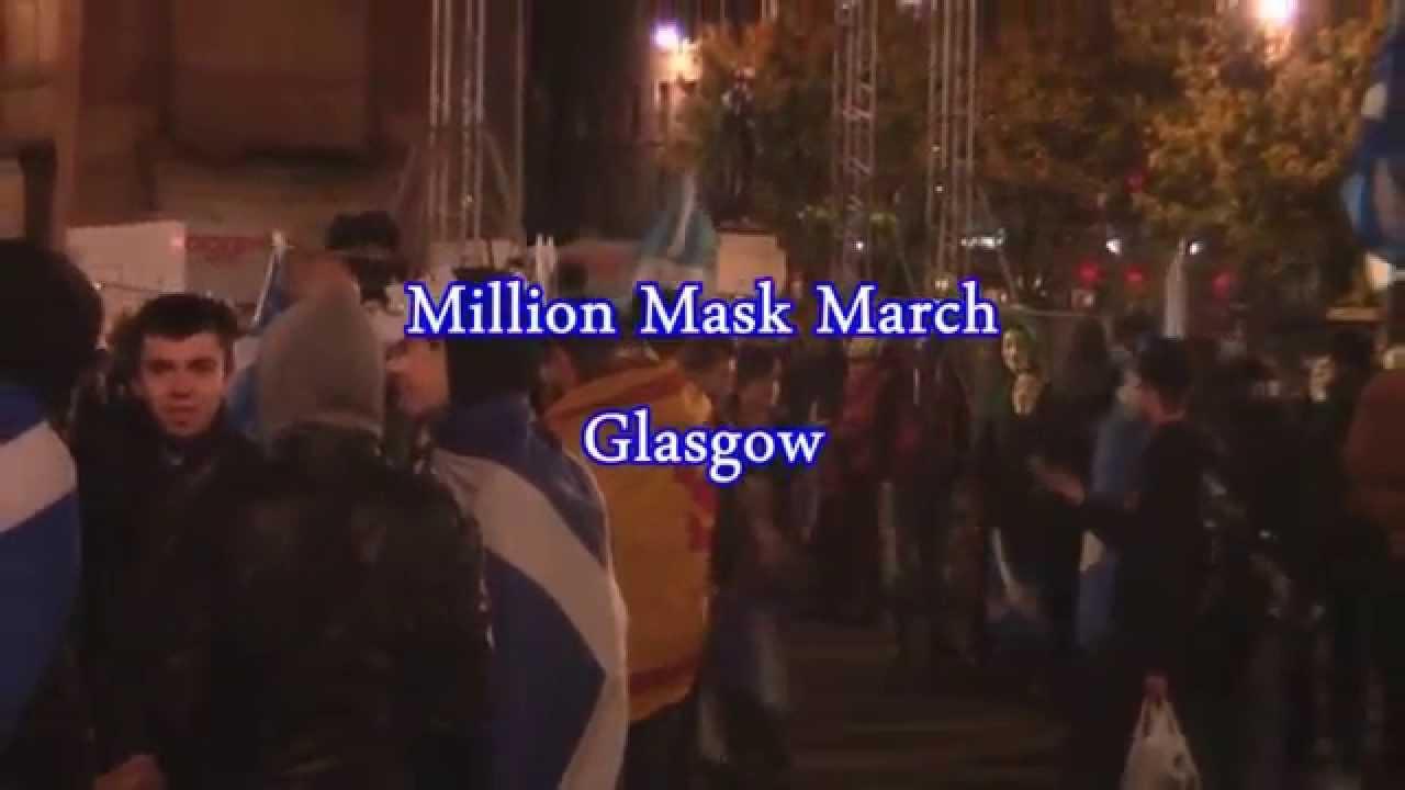 Million Mask March 2014 - Glasgow