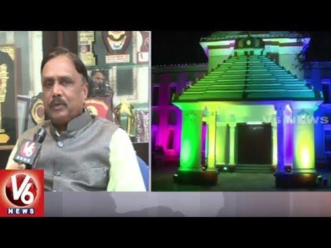 Telugu University VC SV Satyanarayana Face To Face Over World Telugu Conference | V6 News