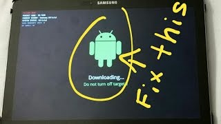 How to restore and exit download mode on Samsung Tab Pro Odin Mode