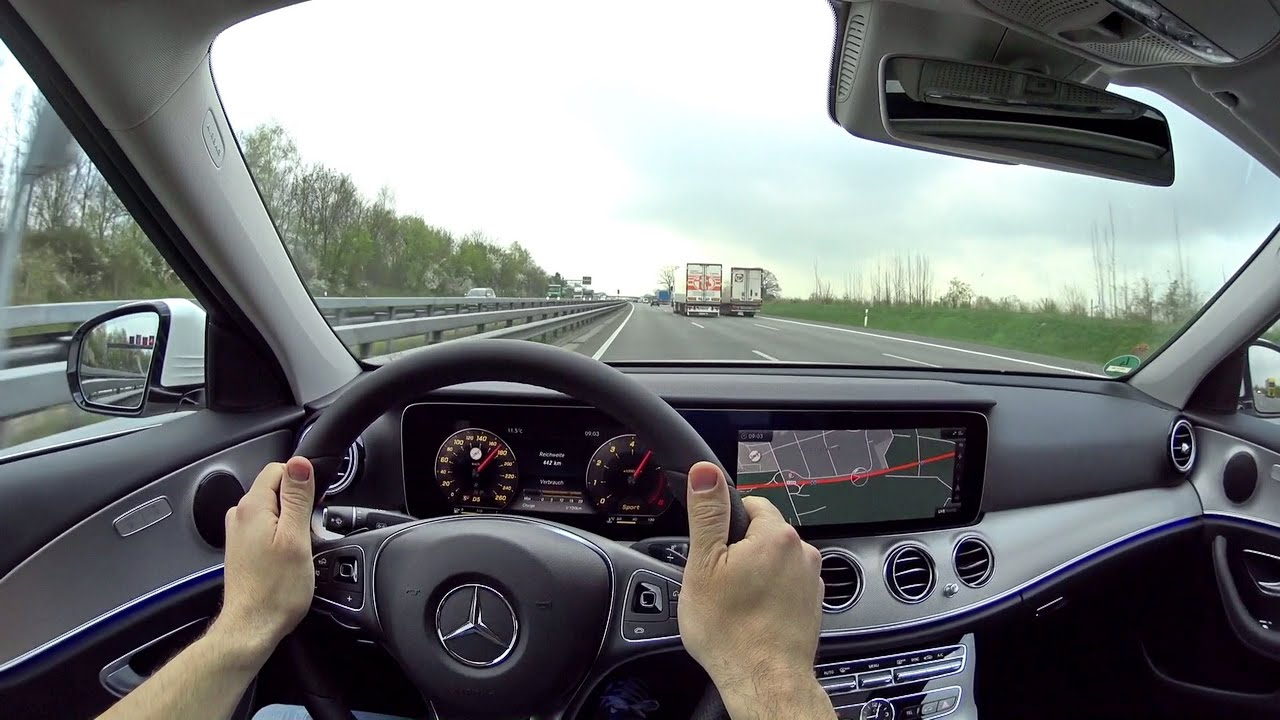 mercedes 2016 e200 w213 autobahn onboard testdrive pov. Black Bedroom Furniture Sets. Home Design Ideas