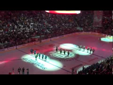 Vancouver Canucks vs Nashville Predators Game 1 Anthem (2011 Playoffs)