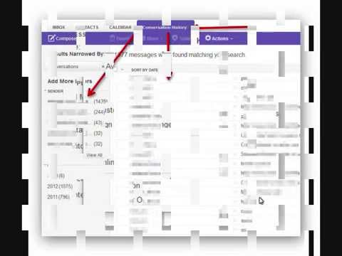 Yahoo Mail- How To See Conversations History