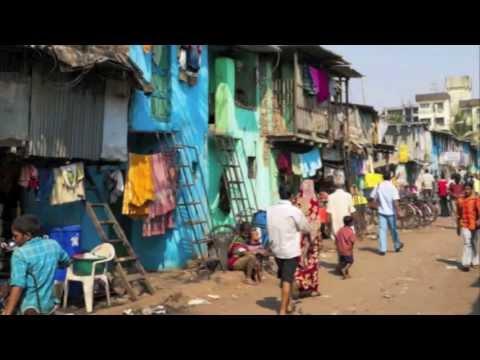 Slums in Ahmedabad, India.