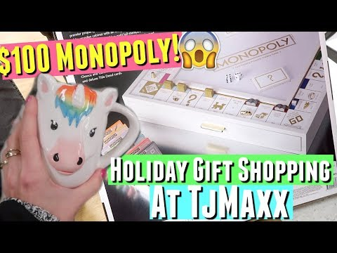 HOLIDAY GIFT SHOPPING 2017 AT TJMAXX & $300 GOLD monopoly game + BLACK FRIDAY try on gap haul!