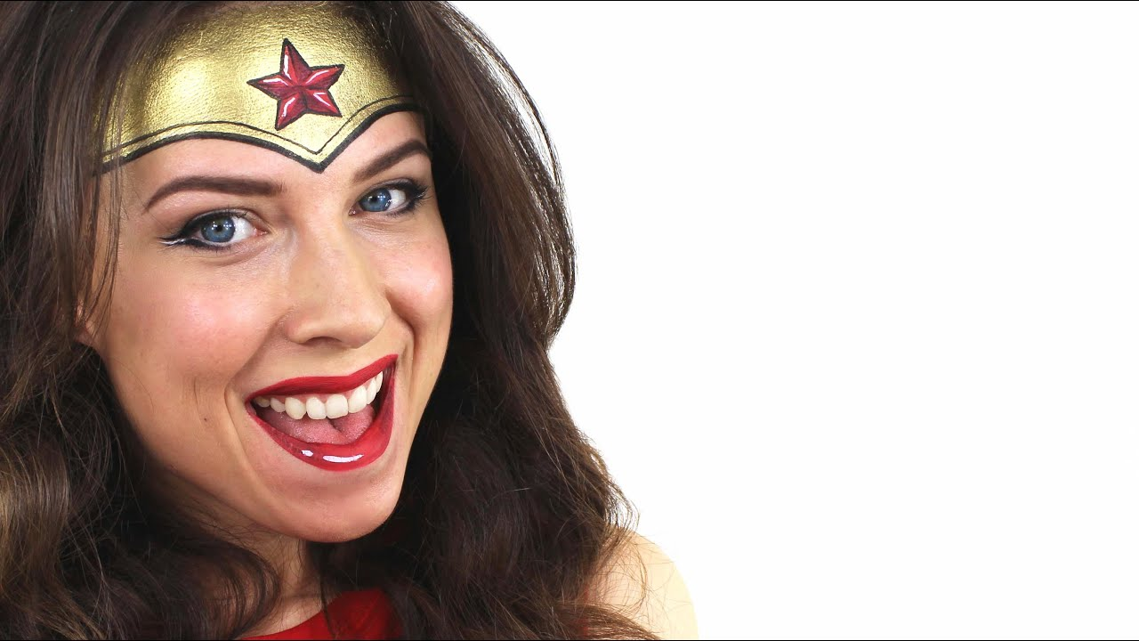 Wonder Woman Mask Face Paint