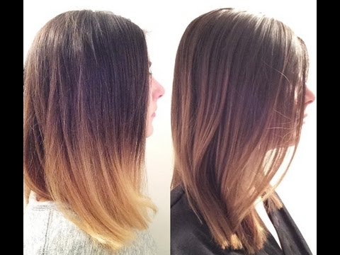 How to go from golden yellow ombre to natural balayage in 1 step, for  people with brown hair