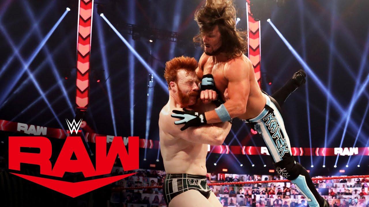 Drew McIntyre & Sheamus vs. AJ Styles, The Miz & John Morrison – Handicap Match: Raw, Dec. 7, 2020