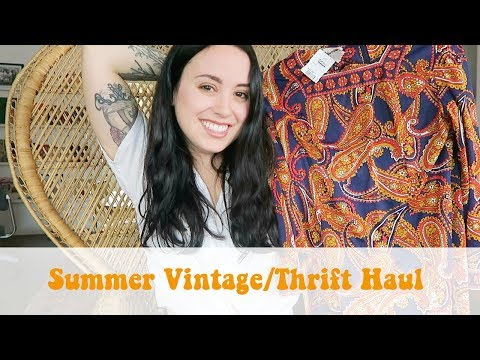Summer Vintage/Thrift Haul | Emily Vallely