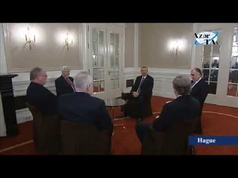 Azerbaijani President meets OSCE Minsk Group Co-Chairs in the Hague