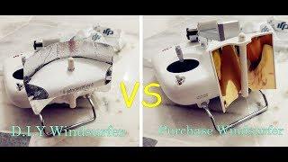 DJI P3S | DIY Windsurfer VS Purchase Windsurfer ! Which better?
