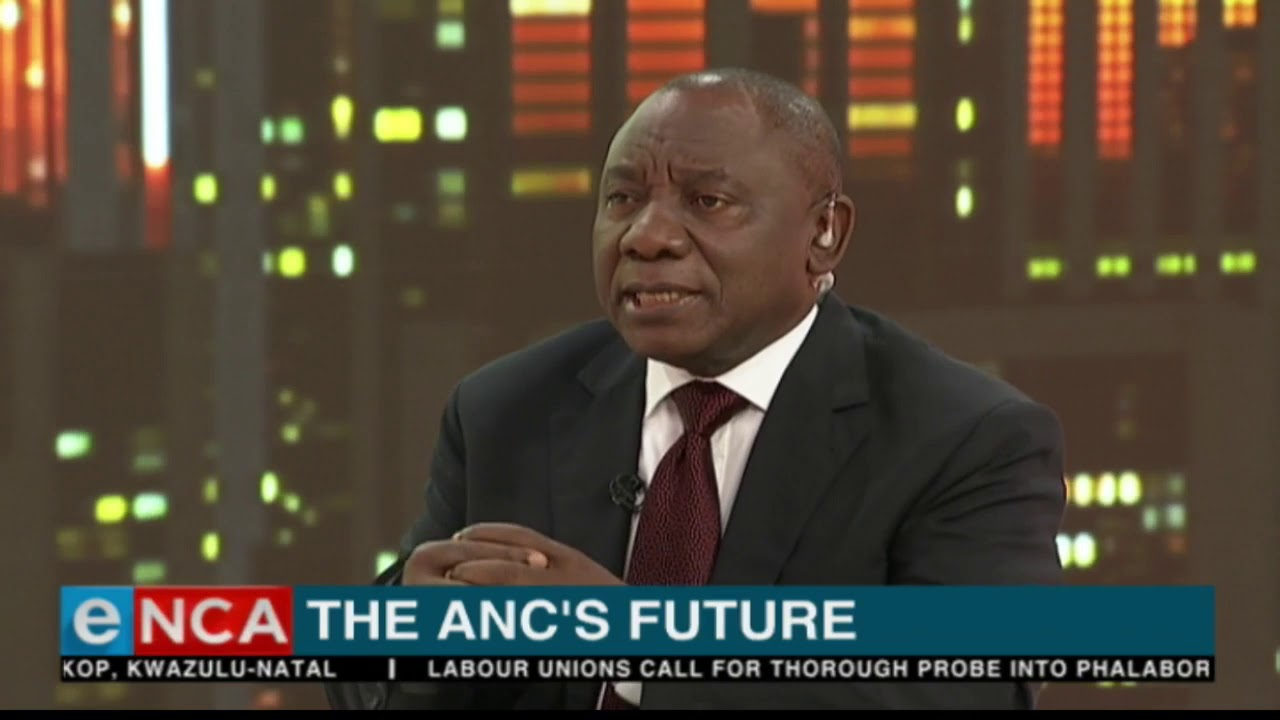 Ramaphosa on the ANC's future
