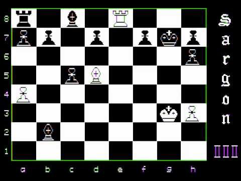 Oric Chess Level 2 versus Sargon III Level 1