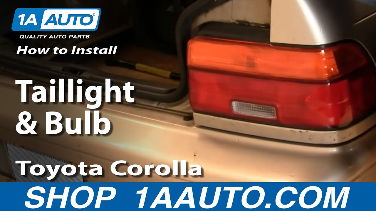 how to install replace taillight and bulb toyota corolla 93 97 1aauto com youtube [ 1920 x 1080 Pixel ]