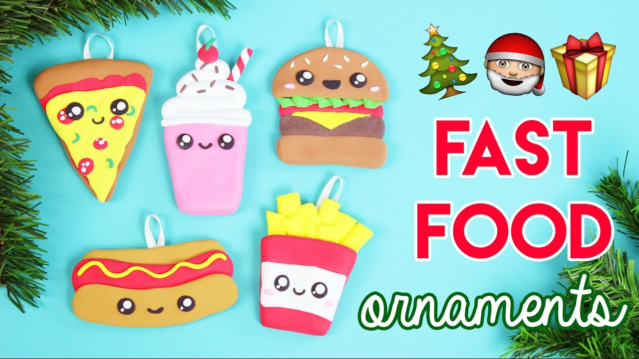 How To Make Diy Fast Food Christmas Ornaments Youtube