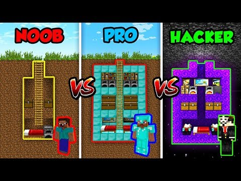 Minecraft NOOB vs. PRO vs HACKER: SECRET HOUSE in Minecraft! thumbnail