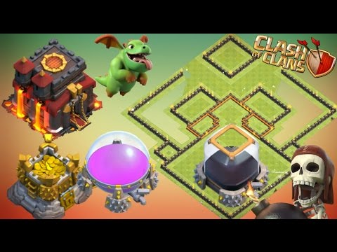 Th10 Farming Base 2016 & 2017 With Replays Anti Giant Anti Dark Elixir Anti loot