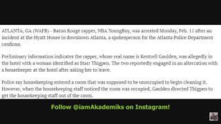 Update On NBA Youngboy Arrest