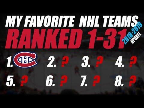 My Favorite NHL Teams Ranked 1-31 (2018/19 update)