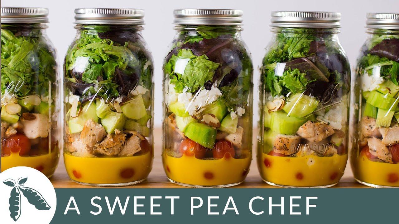 Mason Jar Salad For Meal Prep A Killer Clean Honey Mustard Dressing