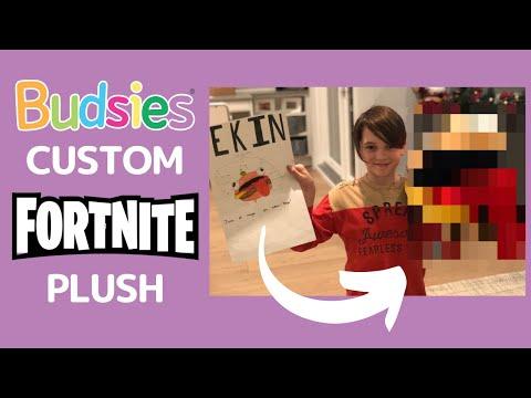 Custom Fortnite Stuffed Animal Unboxing | Budsies© Burger Boss Plush