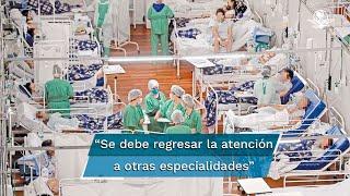 La Jefa de Gobierno de la Ciudad de México, Claudia Sheinbaum, expuso que habrá hospitales que se mantendrán exclusivamente para atención Covid pero también se debe regresar a la atención de otras especialidades
