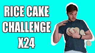 FOOD CHALLENGE   24 RICE CAKE CHALLENGE + FURIOUS PETE RECORD ATEMPT