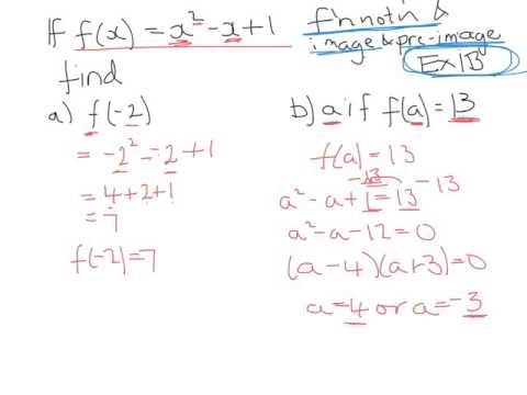 Function Notation And Image And Pre Image