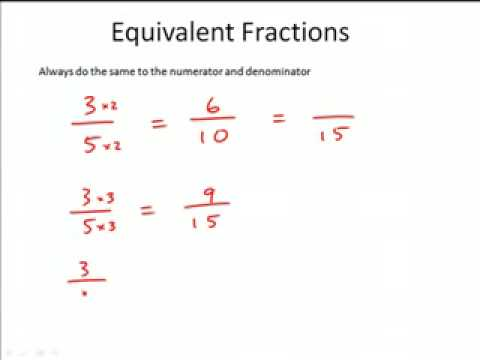 Equivalent Fractions - YouTube