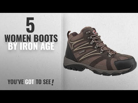 Top 10 Iron Age Women Boots [2018]: Iron Age - IA5200-8W - 6H Men's Hiking Boots, Steel Toe Type,