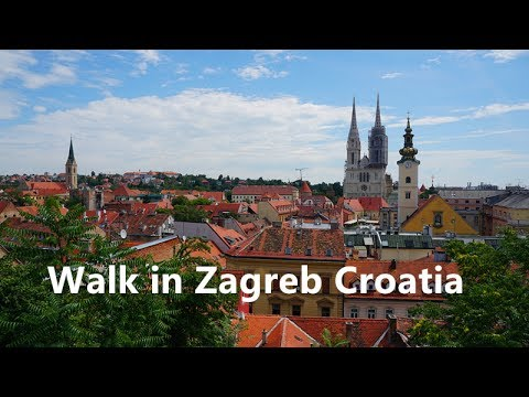 Walk in Zagreb Croatia