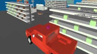 I kinda went on a rampage in the Roblox Walmart...
