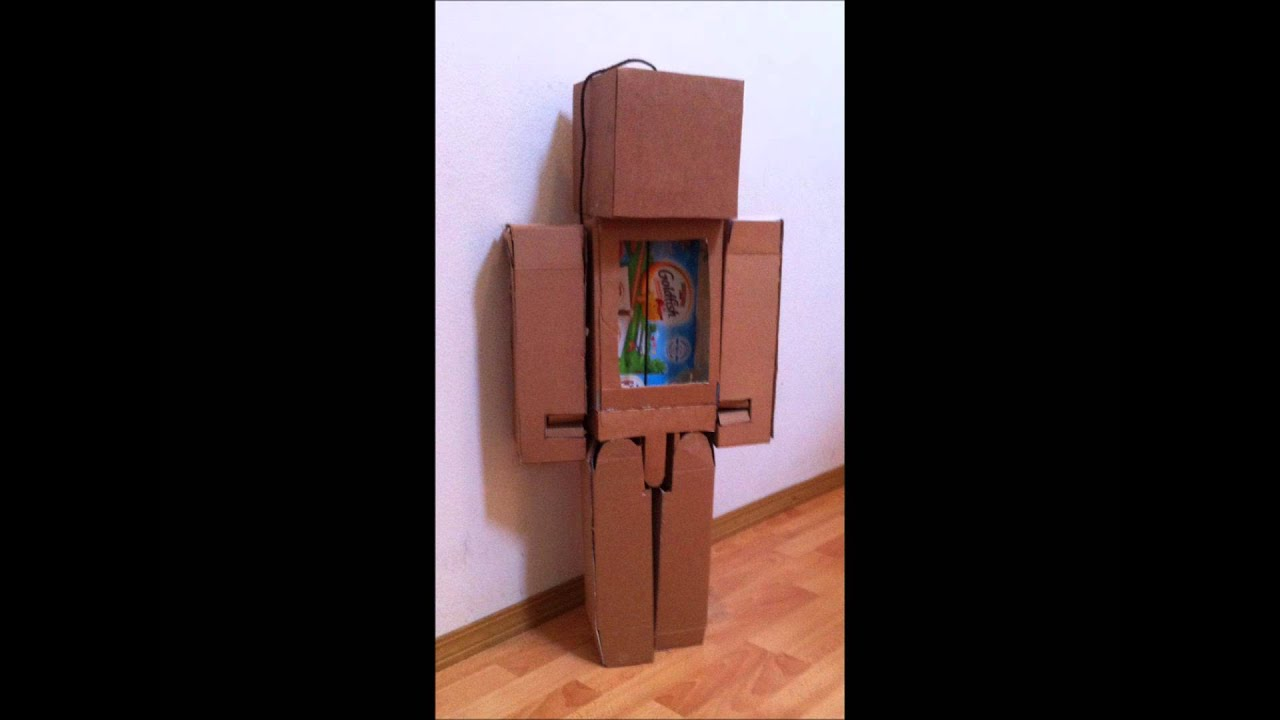 how to make a paper minecraft steve