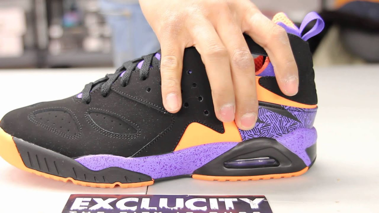 huge selection of cab76 05cf9 Nike Air Tech Challenge Huarache - Black - Court Purple - Orange Unboxing  Video at Exclucity