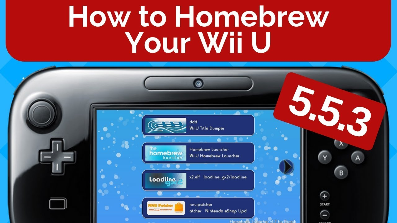 How To Homebrew Your Wii U 5 5 3 Youtube