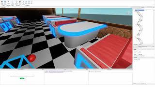 roblox studio diner speed build - part two