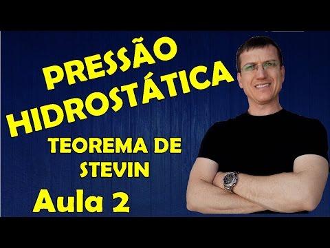 PRESSÃO HIDROSTÁTICA - TEOREMA DE STEVIN - HIDROSTÁTICA - Aula 2   Prof.  Boaro