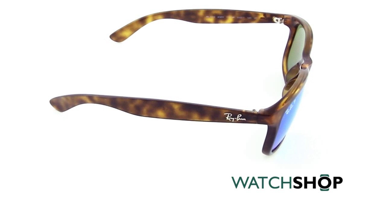 db39f188fa Ray-Ban Men s Andy Sunglasses (RB4202-710 9R-55) - YouTube