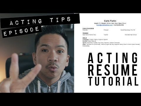 ACTING 101: Acting Resume Tutorial + Template - Acting Tips Ep. 2