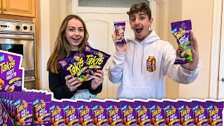 WE TRIED THE NEWEST TAKIS... (OLD VS NEW TAKIS)