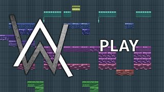 Alan Walker, K-391, Tungevaag, Mangoo - PLAY - Fl Studio Remake + FLP #PressPlay